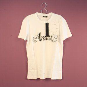 Amiri Women's Printed White T-Shirt